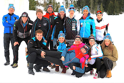 OÖ-Langlaufteam in Ramsau
