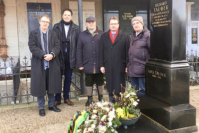 Gedenken an Richard Tauber am Bad Ischler Stadtfriedhof